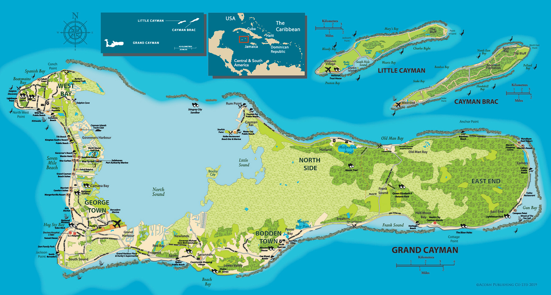 Cayman Islands Maps Area Of