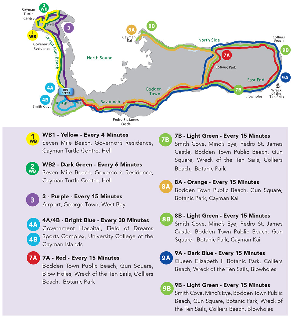 Cayman bus map 2019