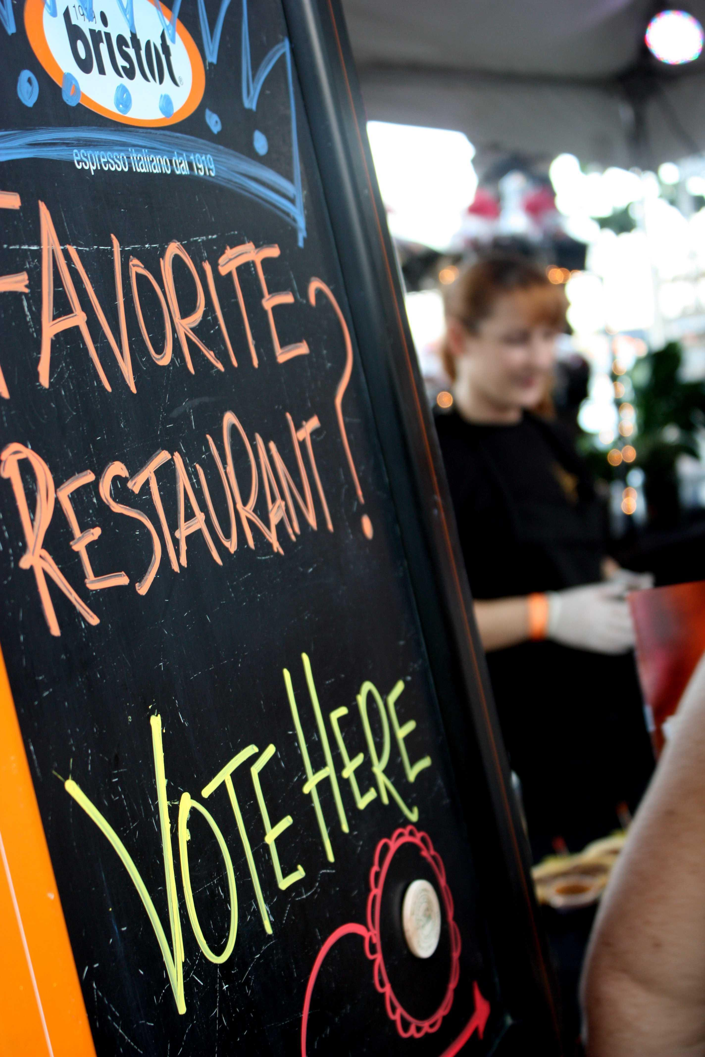 Vote for your favourite restaurant!